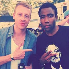 Macklemore + Donald Glover. I'm a fan of them both.