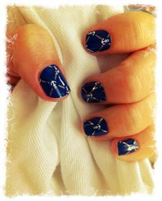 Blue Anchors Nail Wraps by Jamberry Nails. Only available until Feb 28, 2013!
