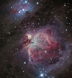 The Orion Nebula, or M42 in a hybrid image of old DSLR data with new CCD images.