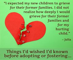 11 Things I'd Wished I'd Known Before Fostering or Adopting // momlifetoday.com  (Could have been written by my daughter.)
