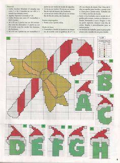 Anna Ponto Cruz: Natal personalizado (has entire alphabet)