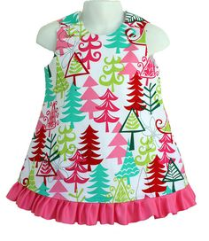 FREE SHIPPING SALE Yule Trees Christmas Holiday Aline Dress on Etsy, $24.95