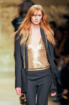 Olga Sherer @ Paco Rabanne F/W 2012.  Must. Have. Top.