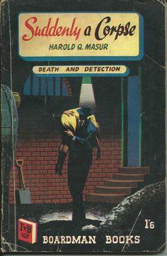 Suddenly a Corpse Harold Q Masur TV Boardman 107 1952 Denis McLoughlin cover art