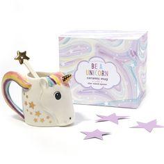 Unicorn Mug w/ Star Stirrer in Gift Box © Two's Company