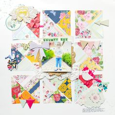 quilted scrapbooking layout