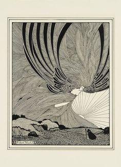 Richard Holzschuh, Wind Godess, 20th century. Drawing. USA. Via...