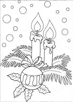Weihnachten Kerzen Schnee Ornament Holly verlässt schön - New Ideas Christmas Embroidery Patterns, Embroidery Designs, Hand Embroidery, Christmas Colors, Christmas Art, Beautiful Christmas, Vintage Christmas, Christmas Coloring Sheets, Quilled Creations