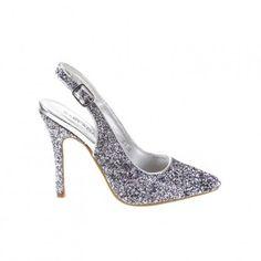 Női Magas Sarkú Cipő MATAR - ezüstös 3eed897c81