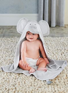 02c50c25da Imagine how cute your baby will look drying off in this elephant-inspired  hooded bath