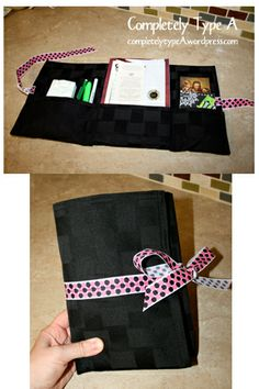 make a cute organizer out of a place mat. OMG, teh organization possibilities! <3