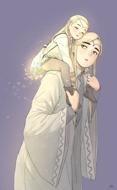 Thranduil and little Legolas