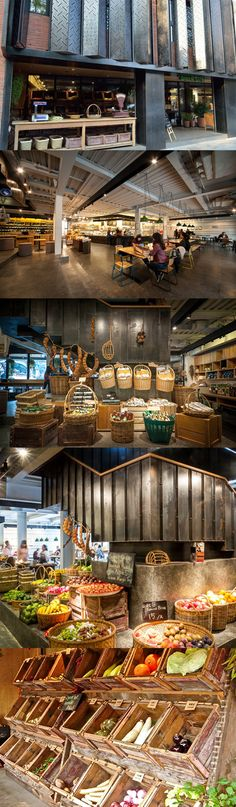 Green & Safe store Shanghai, love the color Café Restaurant, Restaurant Concept, Restaurant Design, Design Commercial, Commercial Interiors, Retail Store Design, Retail Shop, Food Retail, Retail Interior