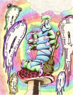 Trippy Alice Wonderland Coloring Page Gif Picture Hawaii Pictures
