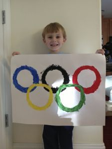 Olympic themed crafts for Toddlers and Preschoolers.