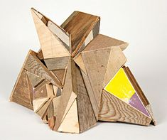 Sculptures made from found wood, by Aaron Moran.