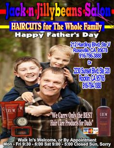 The whole family gets their haircuts @ Jack n Jillybeans Salons