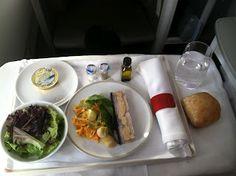 Fancy First Class Plane Food