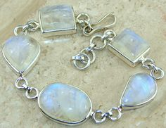 Moonstone  bracelet designed and created by Sizzling Silver. Please visit  www.sizzlingsilver.com. Product code: BR- 7672