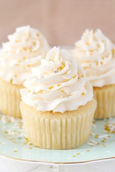 Moist Vanilla Cupcakes - Life Love and Sugar