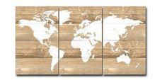 Wereldkaart op steigerhout - aaandacht