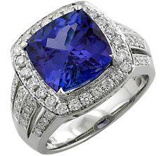 14K Gold Tanzanite & Diamond Ring #ilovetoshop