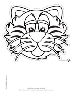 lots of free printable masks to color