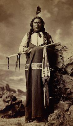 An Old Photograph Of White Thunder - Sicangu Lakota Ca.1880.
