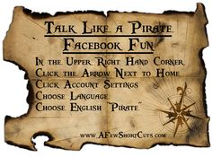 Talk Like A Pirate Day FUN!