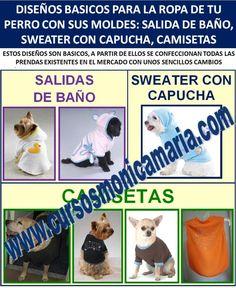 curso corte confeccion ropa perros salidas baño sweaters camisetas mascotas moldes