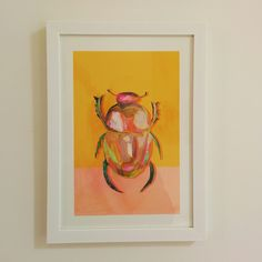 Very Important Creatures by vimportantcreatures Beetle, Giclee Print, Creatures, Etsy Shop, Wall Art, Unique Jewelry, Frame, Handmade Gifts, Painting