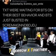 TxT are so shy and then you have BTS 😂 - They come in loud as fuc Informations About TxT are so shy and then you have BTS 😂 Pin You can ea - Bts Funny Videos, Bts Memes Hilarious, Seokjin, Namjoon, Taehyung, Bts Bangtan Boy, Bts Video, Foto E Video, Jung So Min