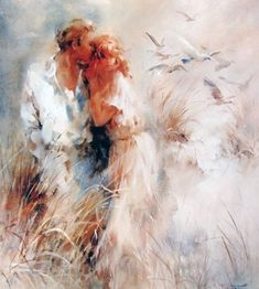 работы Willem Haenraets – 41 Romantic Paintings, Paintings I Love, Romantic Artwork, Art Triste, Images D'art, Harmony Art, Ouvrages D'art, Fine Art, Canvas Artwork