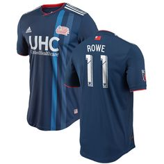 eab03a2b5b5 Kelyn Rowe New England Revolution adidas 2018 Primary Authentic Player  Jersey – Navy