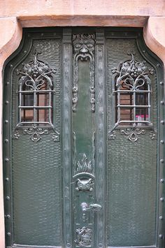 """A slightly scary door"" - photo  by Richard J. Nemeth, via Flickr;  in Berlin, Germany"
