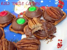 Tried both - I think I have to toast the pecans first to bring out the flavor. Hershey kisses ones are awesome!