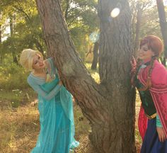 Play hide & seek with the Ice Queen and the Snow Princess!