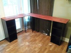 L Shaped Desk Diy diy l-shaped-desk, they used painted old file cabinets