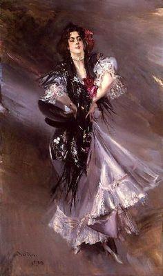Giovanni Boldini Portrait of Anita de la Ferie, 'The Spanish Dancer' Oil on canvas 1900 Public collection Giovanni Boldini, Italian Painters, Italian Artist, Spanish Dancer, Oil Painting Reproductions, Equine Art, Lovers Art, Female Art, Illustration