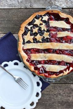 4th of July Desserts - American Flag Pie
