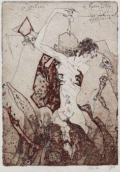 Horst Janssen, Ex Libris, Sketchbooks, Illustrators, Graphic Art, Vintage World Maps, Interiors, Artists, Contemporary