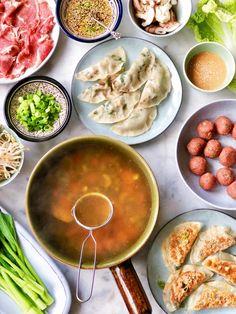 Chinese fondue, made by ellen I Love Food, Good Food, Yummy Food, Nasi Goreng, Wok, Asian Recipes, Healthy Recipes, Clean Eating, Shabu Shabu