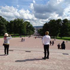 oslo | norge | slottsplassen med utsikt på karl johan