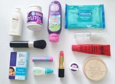 What's in My Makeup Bag? Since my school days are long (whose isn't?), I bring some things to freshen me up, counteract any allergies, and keep me groomed (especially since my PE is in the. Whats In My Makeup Bag, School Days, Allergies, Bring It On, Skin Care, Bags, Handbags, Skincare Routine, Skins Uk