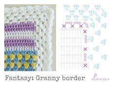 Lanas de Ana: Fantasy Blanket: The Border (VIII)