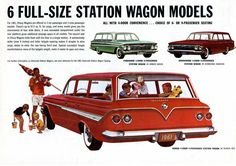 1961 Chevy wagons  The car I learned how to drive in, ours was Honduras maroon.