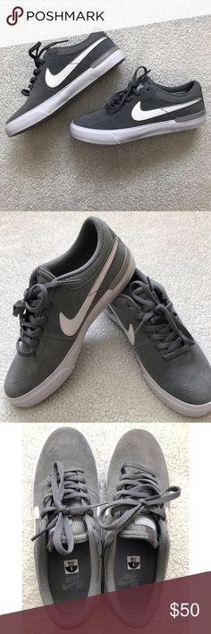 Nike SB Koston HyperVulc Skate Shoe -Grey/White