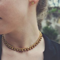 A personal favorite from my Etsy shop https://www.etsy.com/listing/219971103/gold-choker-necklace-gold-collar