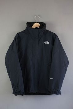 The North Face Jacket with Fleece Lining Size L Large Hyvent Black Womens Ladies
