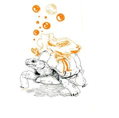 Turtle with soap #turtle #drawing #animals #fun #illustration